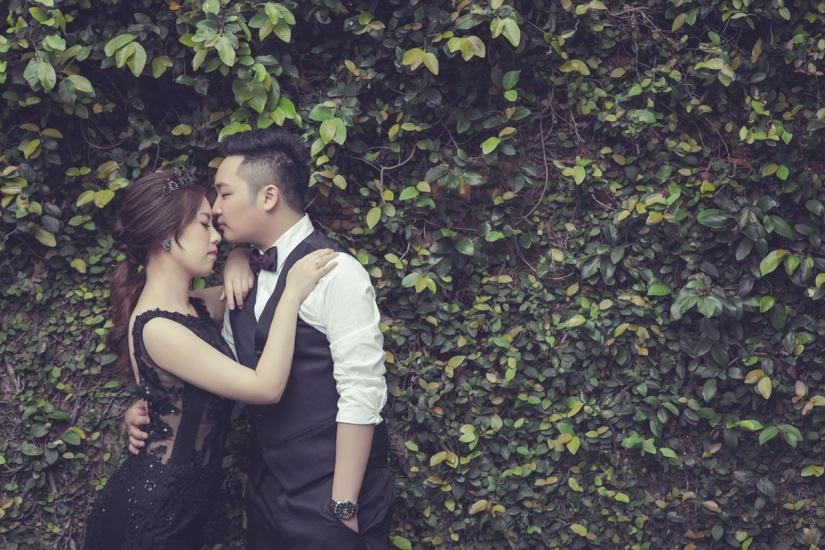 黑色個性禮服婚紗照-台北婚攝ODi