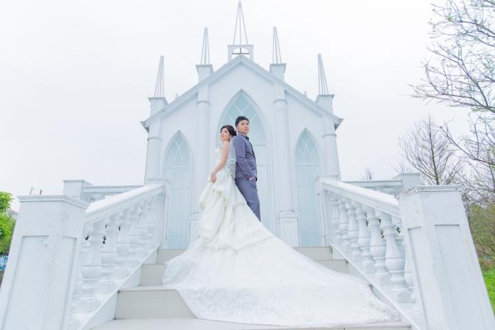 白色教堂婚紗-台北婚攝ODi