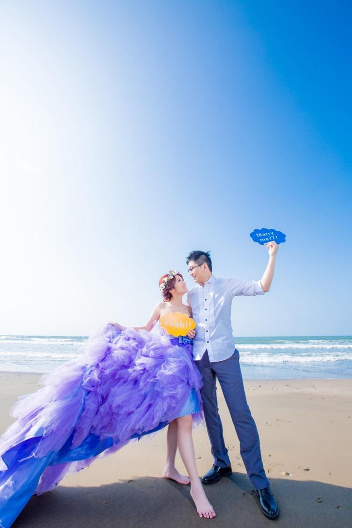 海灘自助婚紗攝影-婚攝ODi